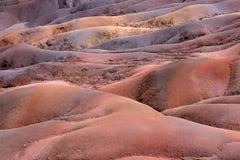 kulör jord mauritius sju Arkivbild