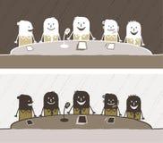 kulör konferens för tecknad film royaltyfri illustrationer