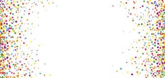 Kulör konfettivittitelrad stock illustrationer