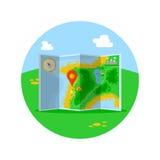 Kulör lägesymbol för lägenhet Arkivbilder