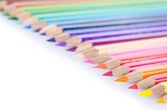 kulör linje blyertspennor Royaltyfri Fotografi