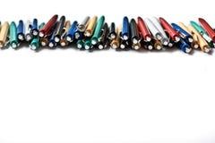 kulör linje pennor Arkivfoto