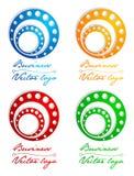 kulör logo för cirkel 3d Arkivbild
