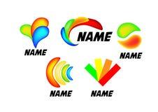 Kulör logotypuppsättning royaltyfria foton