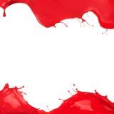 Kulör målarfärg plaskar ramen Arkivfoton