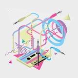 Kulör modern geometrisk bakgrund för abstrakt begrepp Royaltyfri Foto