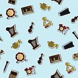 Kulör musikinstrumentmodell royaltyfri illustrationer