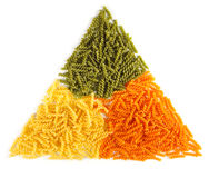 kulör naturligt pasta för grupp Arkivfoto