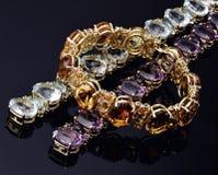 Kulör opal för armband royaltyfri foto