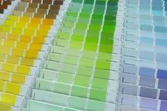 Kulör palett arkivbild