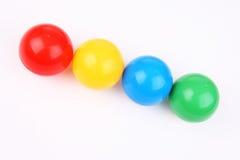 kulör plast- för bollar Arkivfoto