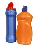 kulör plast- för flaskor royaltyfri fotografi