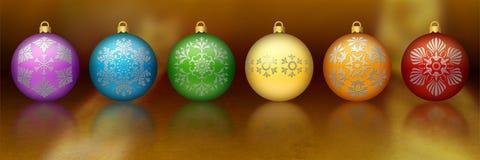 kulör prydnadregnbåge för jul Arkivbilder