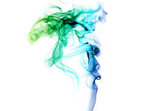 Kulör rök på en vit bakgrund royaltyfria bilder