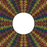Kulör rund ram som göras av prickar med stället för text Fotografering för Bildbyråer