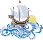 kulör seglingskyttel Arkivfoto