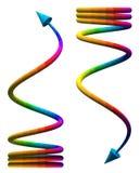 Kulör spiral pil royaltyfri illustrationer