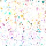 Kulör stjärnabadesign för prickar Arkivfoto