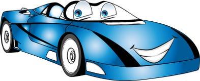 Kulör tecknad filmbil för roliga blått Royaltyfria Foton