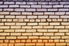 Kulör tegelstenvägg Arkivbilder