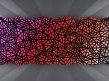 Kulör triangelbakgrund Arkivbild