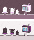 kulör ungetv för tecknad film Arkivfoton