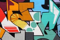 kulör vägg för tegelsten arkivfoto