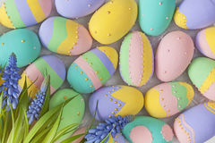 Kulöra ägg för påskpastell Royaltyfri Bild