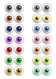 kulöra ögon ställde in vektorn Arkivfoto