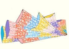 Kulöra abstrakta fyrverkerier på den ljusa bakgrunden vektor illustrationer