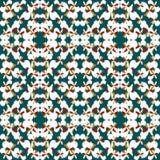 Kulöra abstrakta objekt på en grön bakgrund Arkivbild