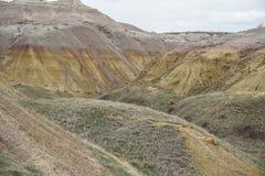 Kulöra berg för imponerande föreställning på nationalparken arkivbilder