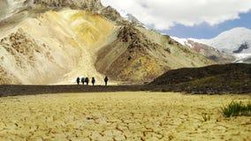 kulöra berg sands Pamir Arkivbilder