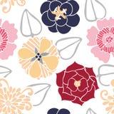 kulöra blommor mönsan den seamless vektorn Royaltyfri Bild