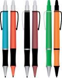 kulöra blyertspennor stock illustrationer