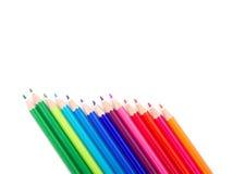 kulöra blyertspennor Royaltyfria Bilder