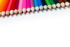 kulöra blyertspennor Royaltyfri Foto