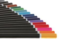 kulöra blyertspennor för sortiment royaltyfria bilder