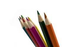 kulöra blyertspennor flera Royaltyfria Bilder