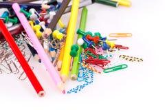Kulöra blyertspennor, gemmar Royaltyfri Bild