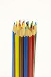 Kulöra blyertspennor, kan användas som en bakgrund Royaltyfria Bilder