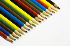 Kulöra blyertspennor, kan användas som en bakgrund Royaltyfri Bild