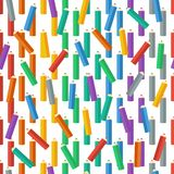 kulöra blyertspennor också vektor för coreldrawillustration Bakgrund Ändlös textur kan användas för utskrift på tyg- och pappers- Fotografering för Bildbyråer