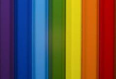 Kulöra blyertspennor - regnbåge Arkivfoto