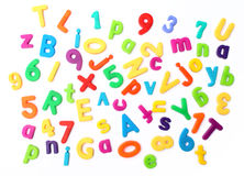 Kulöra bokstäver stock illustrationer