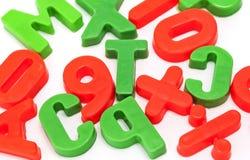 kulöra bokstäver för barn Arkivbild