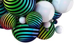 Kulöra bollar för abstrakt begrepp Arkivfoton