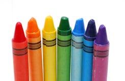 kulöra crayons Arkivbilder