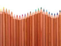 kulöra crayons royaltyfri foto