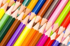 kulöra crayons för frunch royaltyfri foto